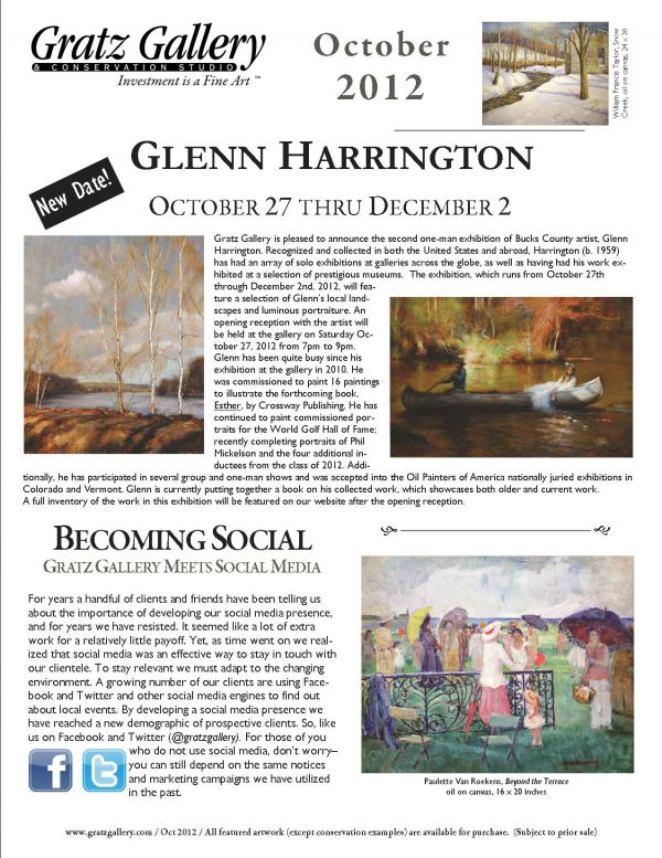 October 2012 newsletter