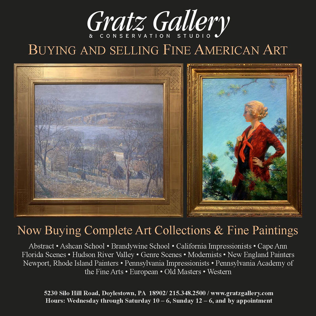Buys and Sells Fine American Art in Bucks County